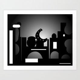 Night Time Bazaar Art Print