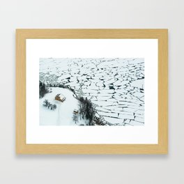 Puzzle Pieces Framed Art Print