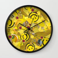sister Wall Clocks featuring Sister by J Ross