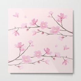 Square - Cherry Blossom - Pink Metal Print