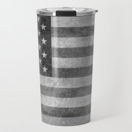 Stars and Sripes in retro style grayscale Travel Mug