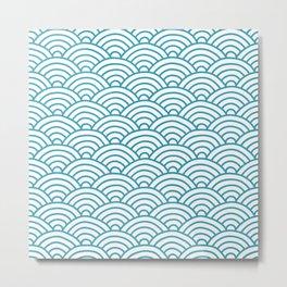 Japanese Waves Seigaiha Metal Print