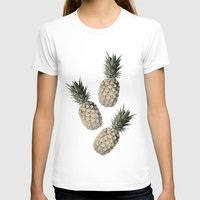 pineapples T-shirts featuring Cheers Pineapples by Yilan