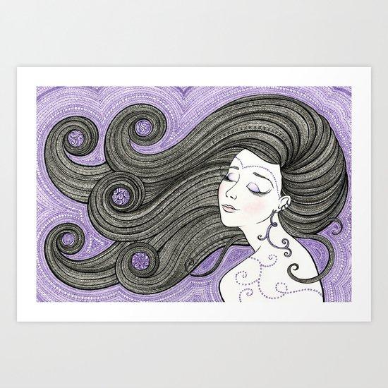 Violet Hour Art Print