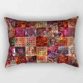 Warm Colors Galaxy Quilt Pattern Rectangular Pillow