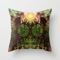 prism Throw Pillows featuring prism  by BOBBY WILKINS