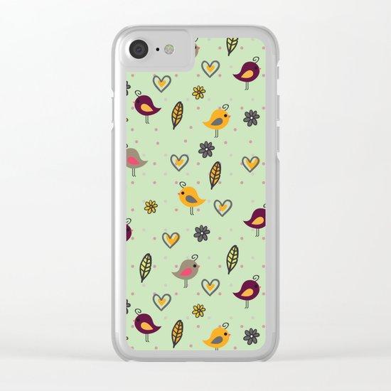 Cute Pattern #2 Clear iPhone Case