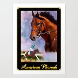 American Pharoah with Nameplate and Border Art Print