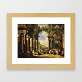 Giovanni Paolo Panini's Masterpiece: The Wedding at Cana, circa 1725 Framed Art Print