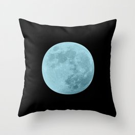 BLUE MOON // BLACK SKY Throw Pillow
