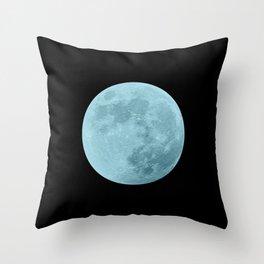 BLUE MOON // BLACK SKY Throw Pillow