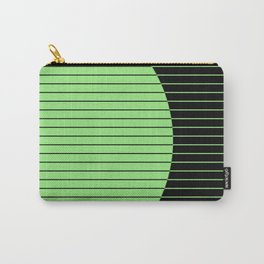Opposites Attract (Abstract, green and black, geometric design) Carry-All Pouch