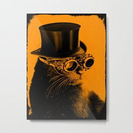 Steampunk Mojo in a top Hat Metal Print