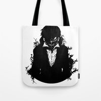 tokyo ghoul Tote Bags featuring Kaneki Tokyo Ghoul 3 by Prince Of Darkness