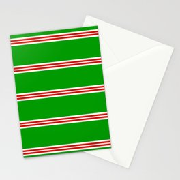 Christmas Stripes #2 Stationery Cards