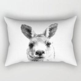 Black and white kangaroo Rectangular Pillow