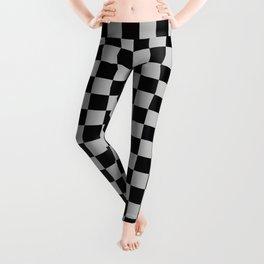 Black and Gray Checkerboard Leggings