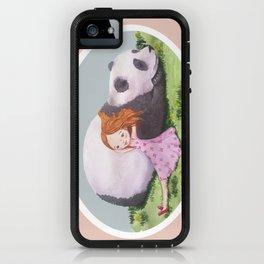 Giant Panda snuggles in the sunshine iPhone Case