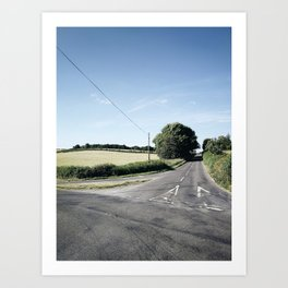 junction in the countryside Art Print
