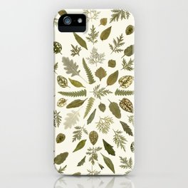 Collage of Leaves iPhone Case