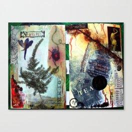 Botanical collage Canvas Print