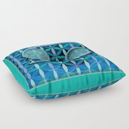 Flower of Life CANCER Astrology Design Floor Pillow