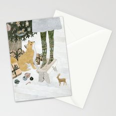 Christmas tree decorating Stationery Cards