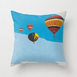 Four Hot Air Balloons Throw Pillow