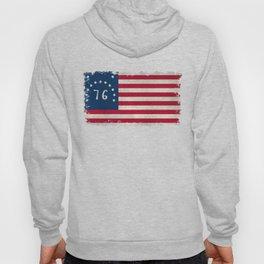 American Bennington flag - Vintage Stone Textured Hoody