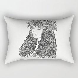 La demoiselle des fleurs Rectangular Pillow
