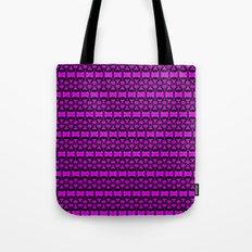 Dividers 02 in Purple over Black Tote Bag