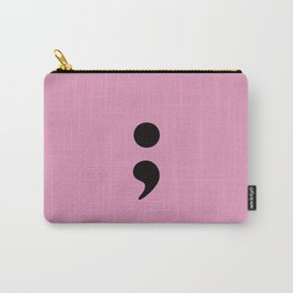 Semicolon - Pink Carry-All Pouch