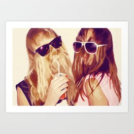 it girls Art Print