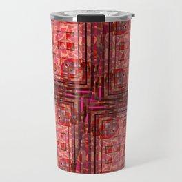 no. 197 orange pink pattern Travel Mug