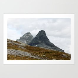 We Stand Together (Two Mountains, Norway) Art Print