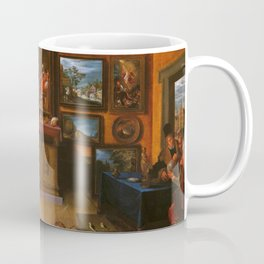 Frans Francken the Younger - A Picture Gallery with a Man of Science Making Measurements Coffee Mug