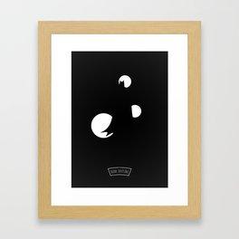 B....N Framed Art Print