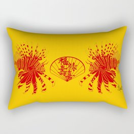 Chinese Cut Out Lion Fish Rectangular Pillow