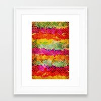 hindu Framed Art Prints featuring Hindu Colors by Diego Tirigall