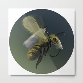 Bee Careful Metal Print