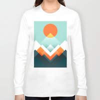 outdoor Long Sleeve T-shirts featuring Everest by Picomodi
