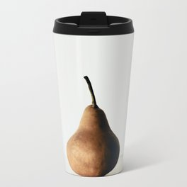 Pear on White Metal Travel Mug
