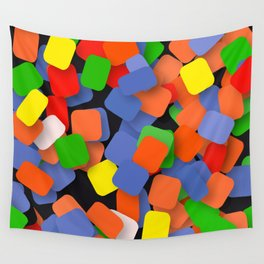 wild color pieces Wall Tapestry