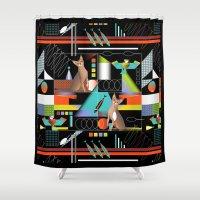 predator Shower Curtains featuring Predator by Vannina
