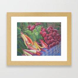 Farmers Market Chard Framed Art Print