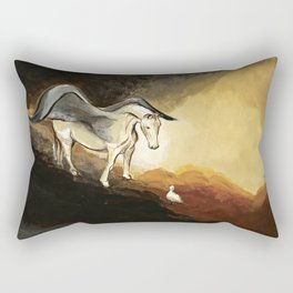 Winged horse with seagull - Silver Stream Children's Book illustration Rectangular Pillow