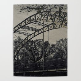 Rustic Steel Bridge Architectural Industrial A173 Poster