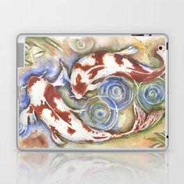 Koi Fish Watercolor Painting Laptop & iPad Skin
