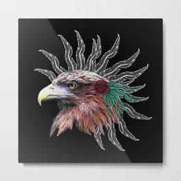 ethno golden eagle, indians Metal Print