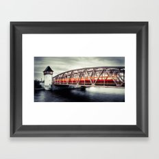 Treptow - crossing the Spree Framed Art Print